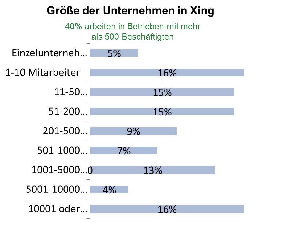 Unternehmensgröße Xing
